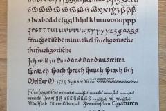 Etüde-Frühgotische-Minuskel